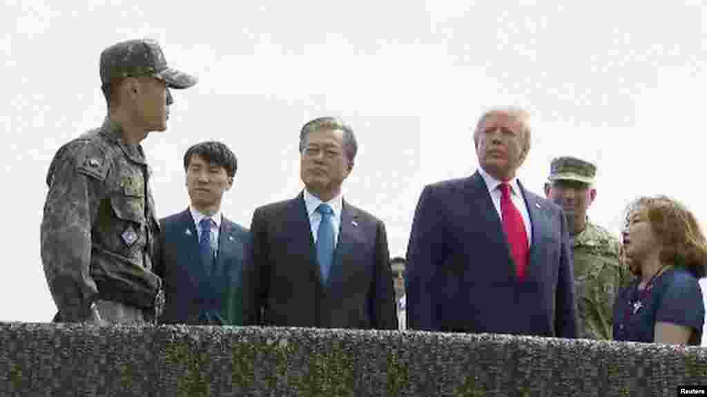 صدر ٹرمپ ہفتے کو دو روزہ دورے پر جنوبی کوریا پہنچے تھے، اس دورے کا مقصد شمالی کوریا کے جوہری پروگرام کو روکنا ہے۔