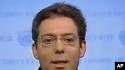 Ο Μόνιμος Αντιπρόσωπος της Κυπριακής Δημοκρατίας στα Ηνωμένα Έθνη Πρέσβης Μηνάς Χατζημιχαήλ.