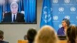 아미나 모하메드 유엔 사무부총장(오른쪽)이 23일 뉴욕 유엔본부에서 열린 '식량 시스템 정상회의' 기자회견에 참석했다. 왼쪽은 톰 빌섹 미국 농무장관.