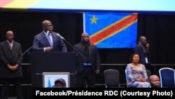 Président Félix Tshisekedi na bokutani na diaspora ya RDC, na Londres, Grande-Bretagne, 19 janvier 2020. (Facebook/Présidence RDC)