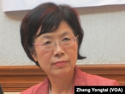 台湾执政党民进党立委尤美女 (美国之音张永泰拍摄)