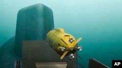 Російський атомний підводний дрон, випущений підводним човном (комп'ютерна графіка)
