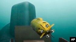 Simulación del dron submarino nuclear ruso.