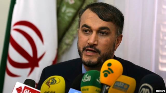 FILE - Hossein Amir-Abdollahian, Iran's envoy to the Organization of Islamic Cooperation (OIC), June 9, 2014.