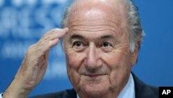 L'ex-président de la Fifa Sepp Blatter, le 1er juin 2011. (AP Photo/Michael Probst, file)