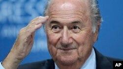 Sepp Blatter, président de la Fifa, le 1er juin 2011. (AP /Michael Probst)