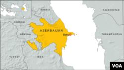 Peta wilayah Azerbaijan.