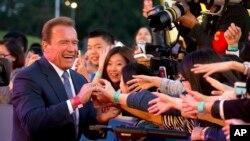 """""""Sumamente orgullosos de dar la bienvenida a Arnold Schwarzenegger, una de las leyendas de Hollywood"""", Festival de Zúrich."""