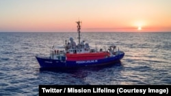 Le navire humanitaire Lifeline avec 233 migrants à bord au large de l'Ile de Malte, 26 juin 2018. (Twitter/Mission Lifeline)