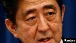 아베 신조 일본 총리의 모습(자료사진)