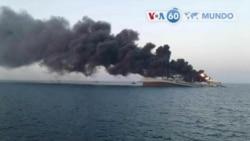 Manchetes mundo 2 Junho: Maior navio de guerra do Irão incendeia e afunda no Golfo de Omã