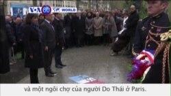 TT Pháp tưởng niệm những nạn nhân vụ Charlie Hebdo (VOA60)