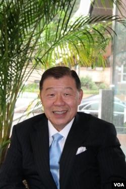 台湾驻美代表袁健生 (美国之音记者 钟辰芳拍摄)