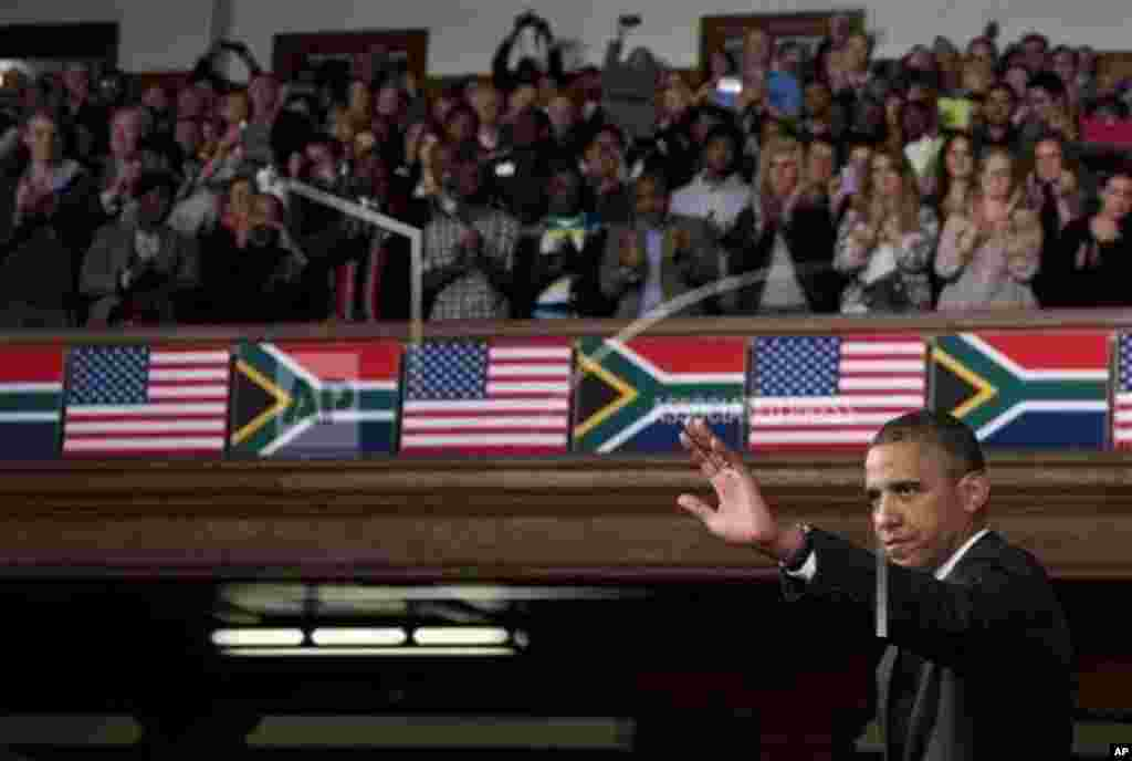 Obama in Cape Town, South Africa 30 June 2013