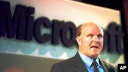 미국 마이크로소프트사의 스티브 발머 최고경영자. (자료사진)