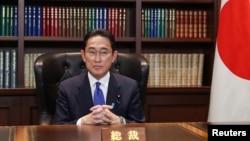 日本前外相岸田文雄当选自民党新总裁。(2021年9月29日)