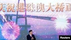 시진핑 중국 국가주석이 23일 광둥성 주하이시에서 홍콩과 마카오, 중국 주하이를 연결하는 '강주아오' 대교 개통식에 참석했다.