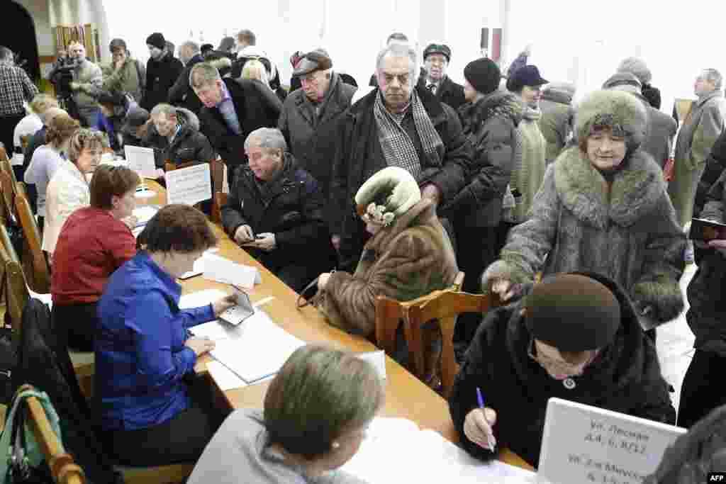 На виборчій дільниці у Москві. 4.03.2012.