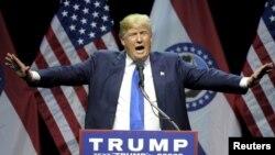 Ứng viên tổng thống của đảng Cộng hòa Donald Trump.