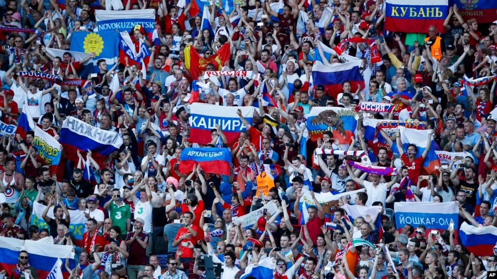 Image result for pic of fans in Russia