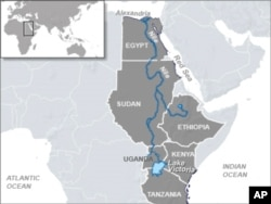 The Nile River is a main source of water for many countries