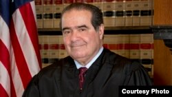 US Supreme Court Justice Antonin Scalia is seen in this official US Supreme Court portrait