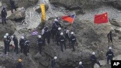 Nhật Bản bắt giữ nhóm các nhà hoạt động Trung Quốc đi thuyền tới những hòn đảo này vào ngày 15/8