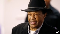 FILE - Marion Barry, former mayor of Washington, D.C., and a current city council member, has died. He's shown in March 2014.
