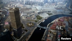 天津金融中心。