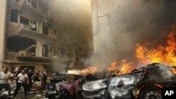 انفجار خودرو بمبگذاری شده در بیروت.