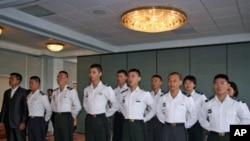 台湾陆军官校学生参加美国军校军技竞赛