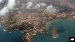 Vista aerea da Cidade da Praia