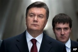 FILE - Then president of Ukraine, Viktor Yanukovych, is seen in a Dec. 1, 2011, photo.