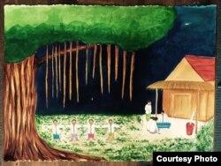 Lukisan karya pelukis Indonesia di Philadelphia, AS, Jeanny Kurniawati (foto/dok: Jeanny Kurniawati)