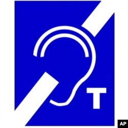 Hearing assistance sign which alerts people that the area or facility is equipped with a hearing loop.