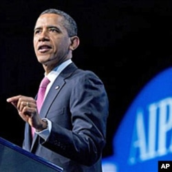 President Barack Obama addresses the American Israel Public Affairs Committee's (AIPAC) annual Policy Conference opening plenary session, March 4, 2012, in Washington