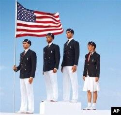 Seragam upacara yang akan dikenakan para atlit olimpiade Amerika (Foto: dok).