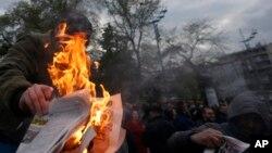 """""""Protest protiv diktature"""" u Beogradu"""