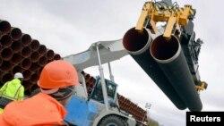 Отгрузка стальных труб для строительства трубопровода «Северный поток – 2» (архивное фото)