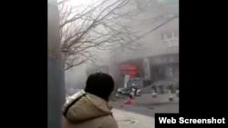 中国辽宁省沈阳市公安局交通警察局3月28日发生一起爆炸案 (推特截图)