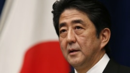 Japan's new Prime Minister Shinzo Abe attends a news conference at his official residence in Tokyo, December 26, 2012.
