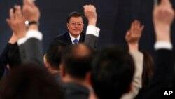 Le président sud-coréen Moon Jae-In, Séoul, Corée du Sud, le 10 janvier 2018.