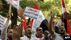 Pro-režimski demonstranti u Siriji, Damask, 29. septembar 2011.