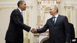 Барак Обама и Владимир Путин. Москва. 7 июля 2009 г.