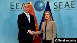 Predsednik Crne Gore Milo Đukanović sa visokom predstavnicom EU Federikom Mogerini (rtcg.me)