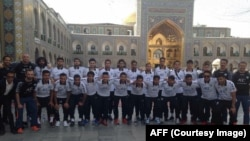 بازیکنان تیم ملی فوتبال افغانستان در مشهد - ایران