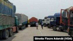 Poste frontalier de Sèmè Krak, au Bénin, le 26 août 2019. (VOA/Ginette Fleure Adandé)