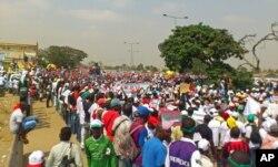 Manifestação da UNITA em Luanda, 19 de Maio de 2012