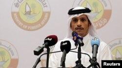 قطر کے وزیر خارجہ شیخ محمد بن عبد الرحمان الثانی (فائل)