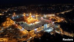 تصویر هوایی از آرامگاه امام هفتم شیعیان - ۲۰۱۴